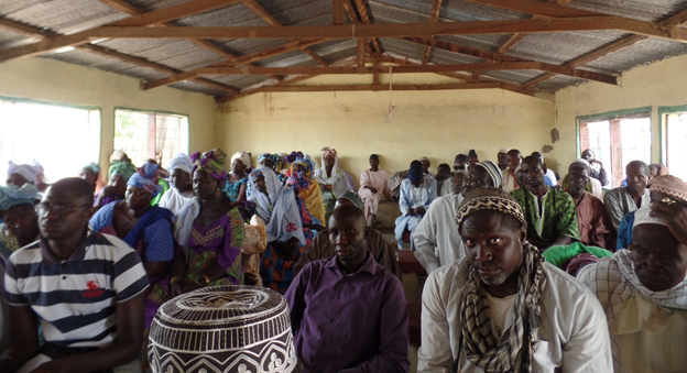 Farmers at a hunger and food security dialogue organized by Rural Impact at Ndawen village, Central River Region, The Gambia